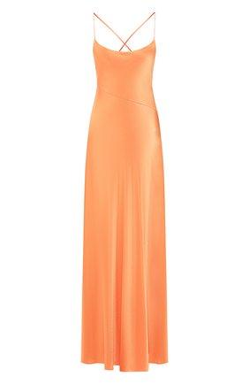 Женское платье-макси GALVAN LONDON оранжевого цвета, арт. 120SEDR002906 | Фото 1