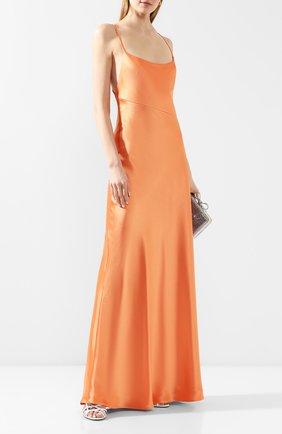 Женское платье-макси GALVAN LONDON оранжевого цвета, арт. 120SEDR002906 | Фото 2