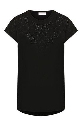 Женская хлопковая футболка ESCADA SPORT черного цвета, арт. 5032616 | Фото 1
