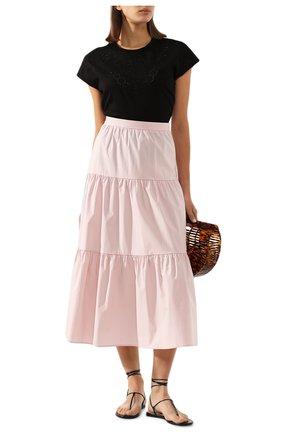 Женская хлопковая футболка ESCADA SPORT черного цвета, арт. 5032616 | Фото 2