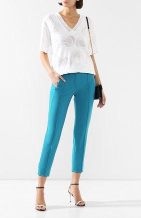 Женские брюки ESCADA бирюзового цвета, арт. 5032877 | Фото 2