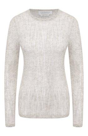Женская пуловер из смеси кашемира и шелка GABRIELA HEARST светло-серого цвета, арт. 320946 A022 | Фото 1