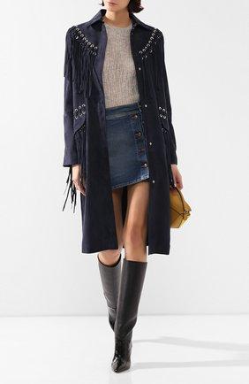 Женская пуловер из смеси кашемира и шелка GABRIELA HEARST светло-серого цвета, арт. 320946 A022 | Фото 2