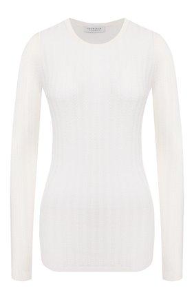 Женская пуловер из смеси кашемира и шелка GABRIELA HEARST белого цвета, арт. 320906 A003 | Фото 1