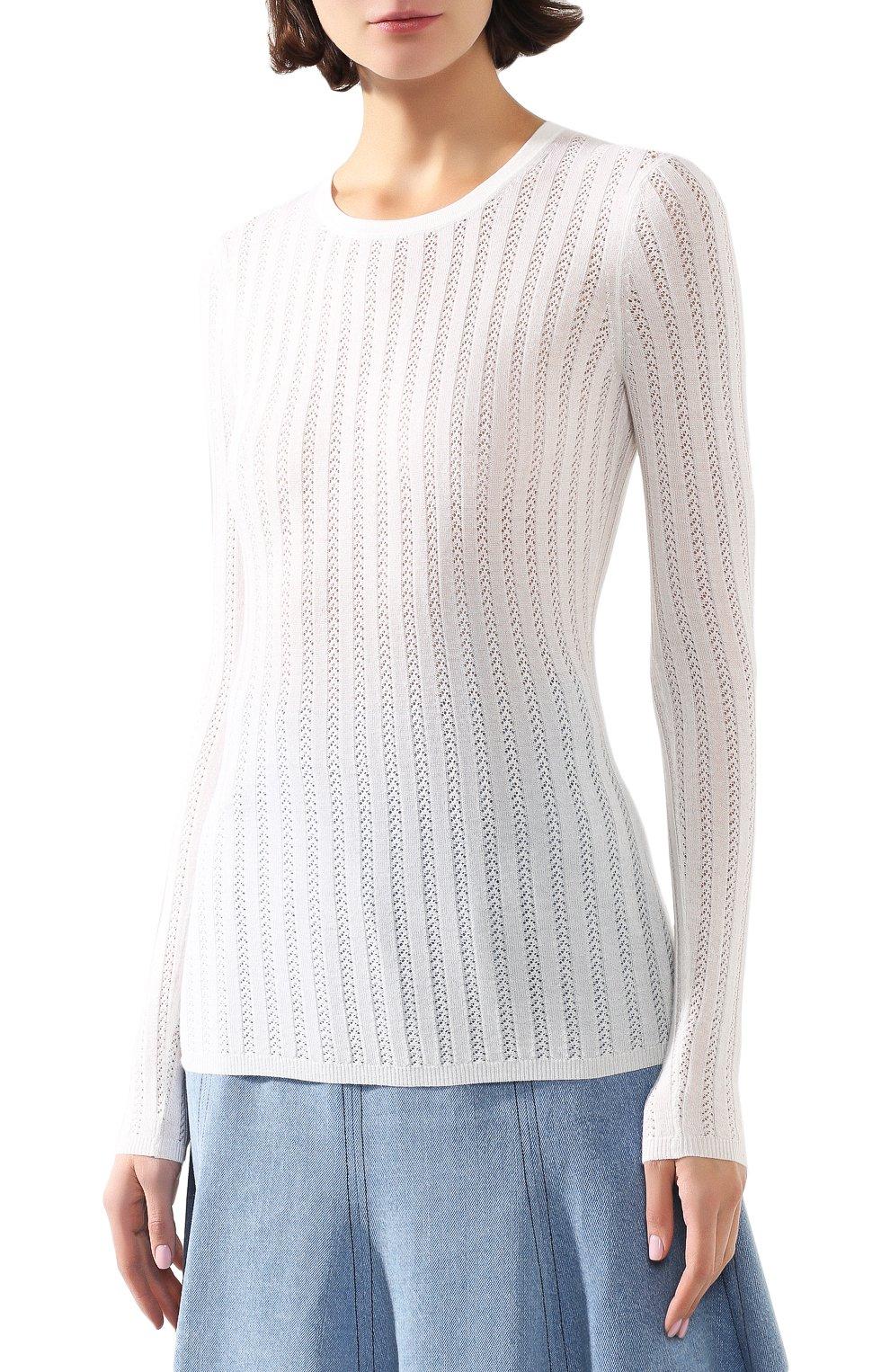 Женский пуловер из смеси кашемира и шелка GABRIELA HEARST белого цвета, арт. 320906 A003 | Фото 3