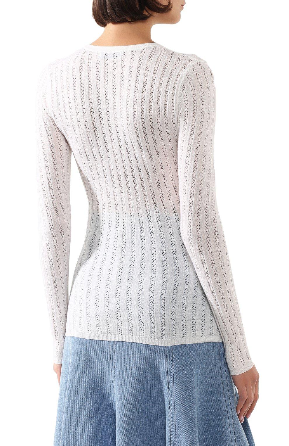 Женский пуловер из смеси кашемира и шелка GABRIELA HEARST белого цвета, арт. 320906 A003 | Фото 4