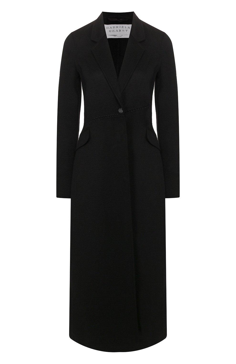 Женское кашемировое пальто GABRIELA HEARST черного цвета, арт. 320608A C003   Фото 1