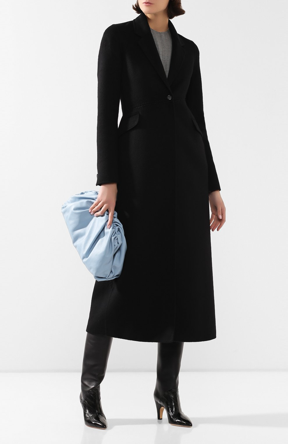 Женское кашемировое пальто GABRIELA HEARST черного цвета, арт. 320608A C003   Фото 2