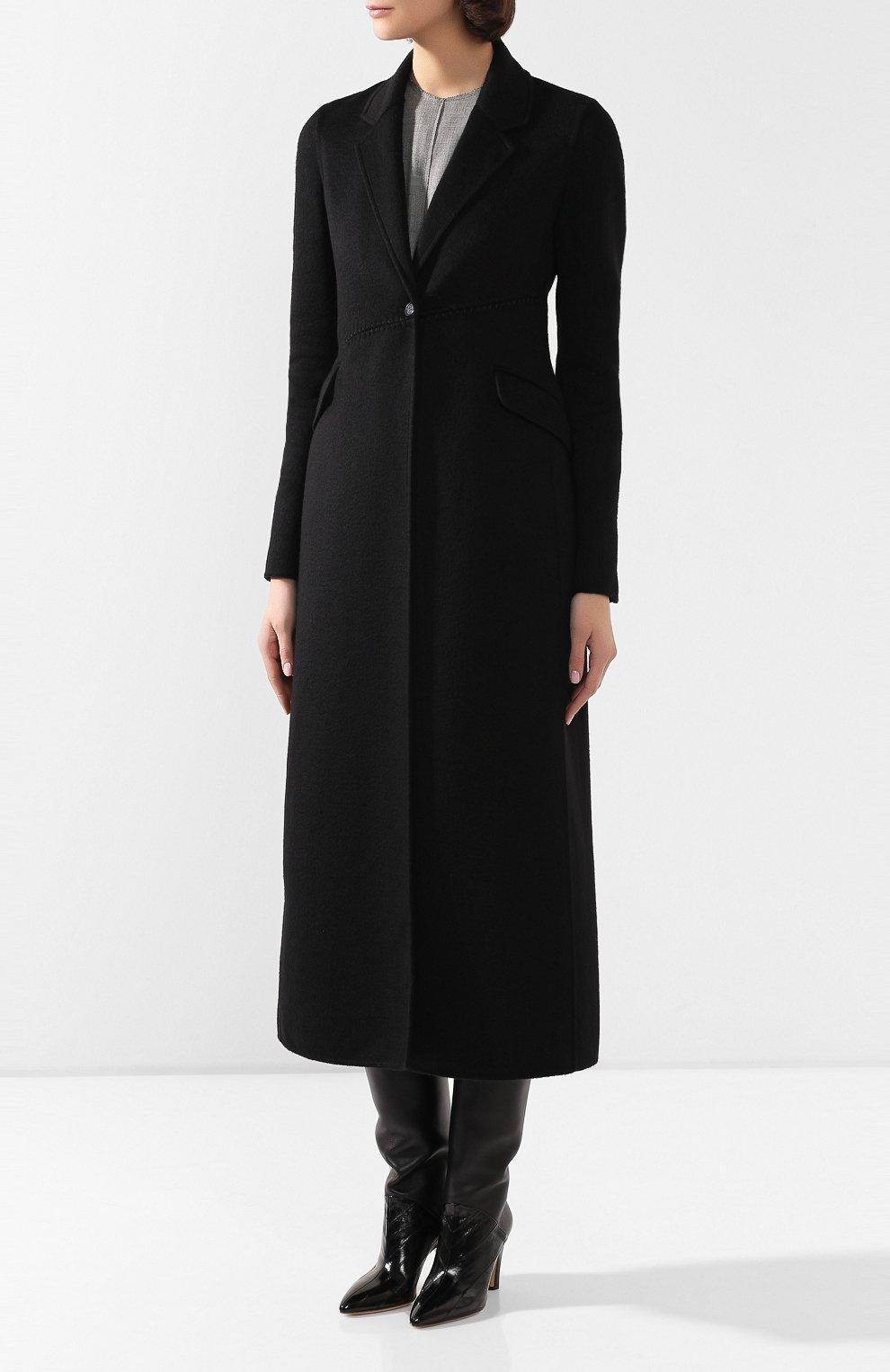 Женское кашемировое пальто GABRIELA HEARST черного цвета, арт. 320608A C003   Фото 3