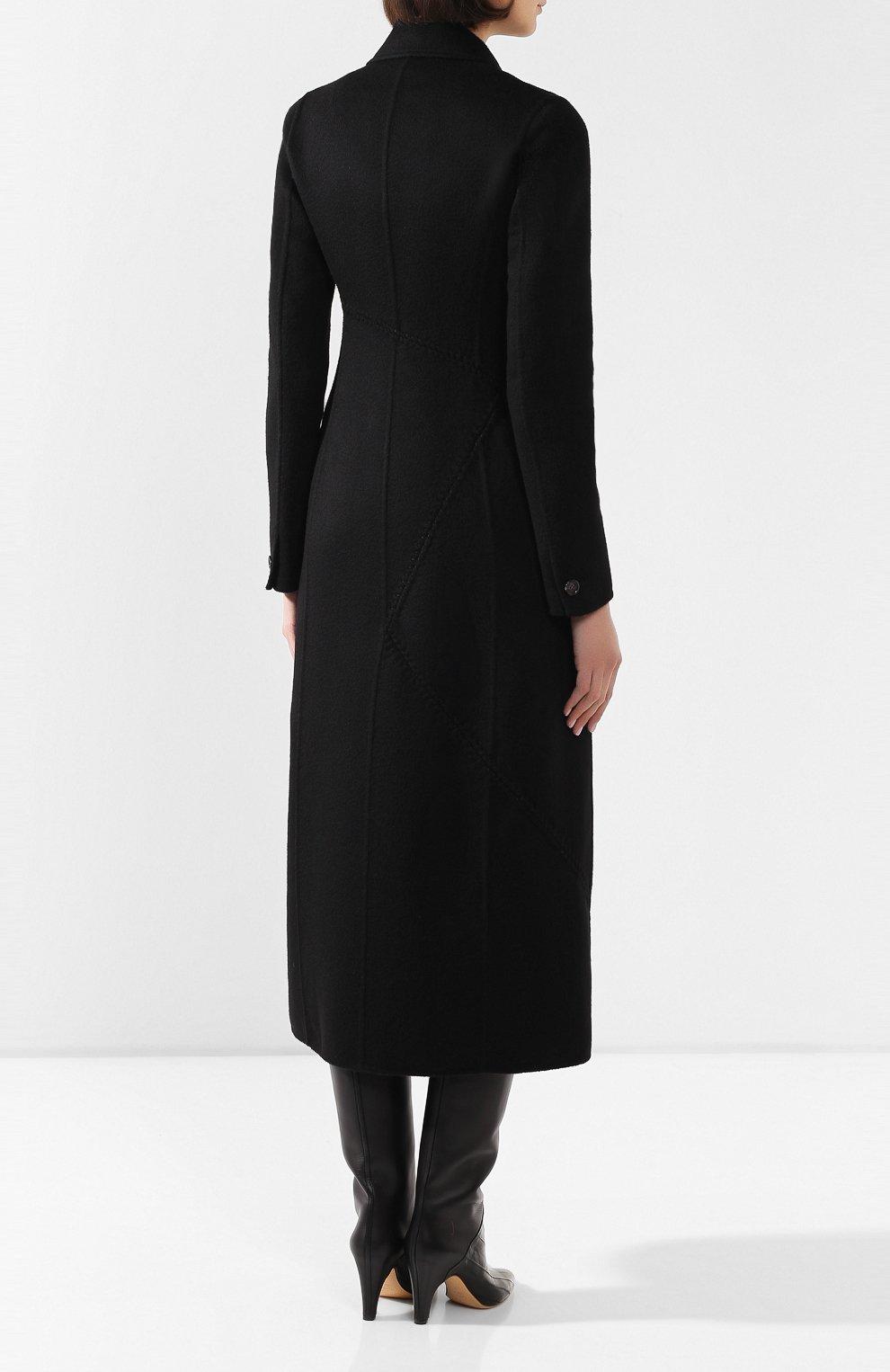 Женское кашемировое пальто GABRIELA HEARST черного цвета, арт. 320608A C003   Фото 4