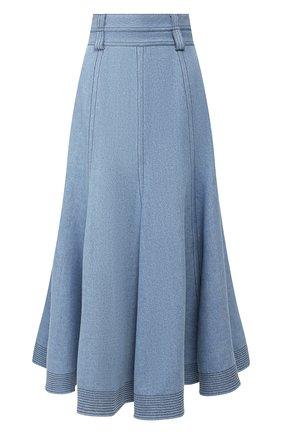 Женская джинсовая юбка GABRIELA HEARST голубого цвета, арт. 320309 T014 | Фото 1