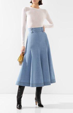Женская джинсовая юбка GABRIELA HEARST голубого цвета, арт. 320309 T014 | Фото 2