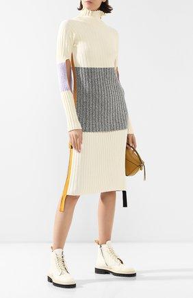 Женская юбка MONCLER кремвого цвета, арт. F1-094-9H701-00-C9031 | Фото 2