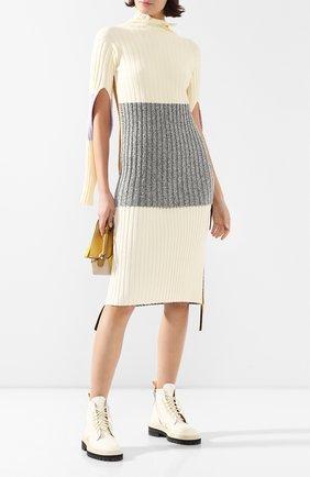 Женская свитер MONCLER кремвого цвета, арт. F1-094-9F702-00-C9031 | Фото 2