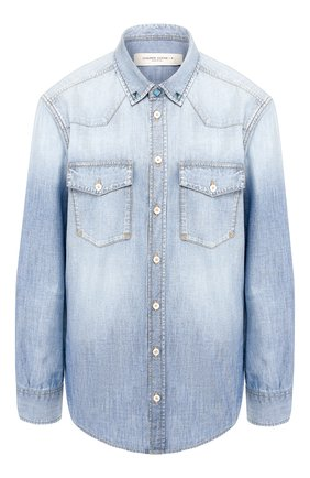 Женская джинсовая рубашка GOLDEN GOOSE DELUXE BRAND голубого цвета, арт. G36WP0D3.A1 | Фото 1