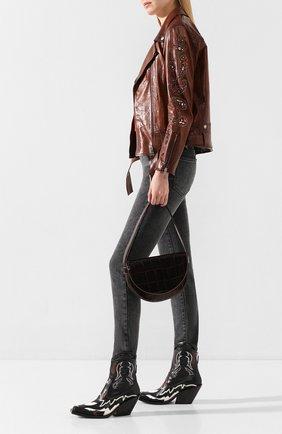 Женская кожаная куртка GOLDEN GOOSE DELUXE BRAND коричневого цвета, арт. G36WP036.A3 | Фото 2