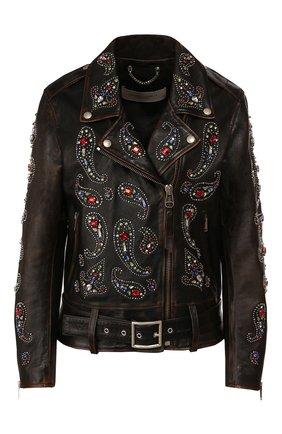 Женская кожаная куртка GOLDEN GOOSE DELUXE BRAND черного цвета, арт. G36WP036.A1 | Фото 1