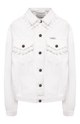 Женская джинсовая куртка FORTE DEI MARMI COUTURE белого цвета, арт. 20SF5380 | Фото 1