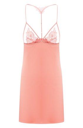 Женская шелковая сорочка FLEUR OF ENGLAND розового цвета, арт. FT1637 | Фото 1