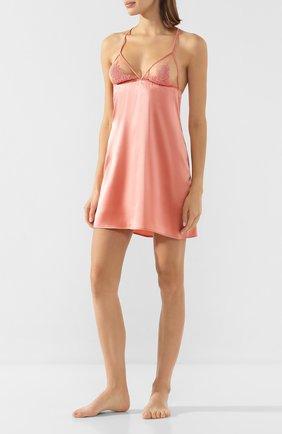 Женская шелковая сорочка FLEUR OF ENGLAND розового цвета, арт. FT1637 | Фото 2