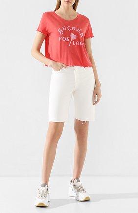 Женская хлопковая футболка WILDFOX красного цвета, арт. WCJ2723L4   Фото 2