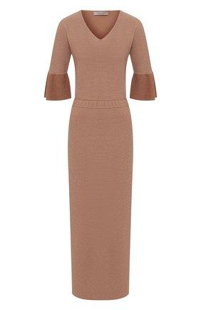 Женское платье из вискозы D.EXTERIOR бежевого цвета, арт. 50306   Фото 1