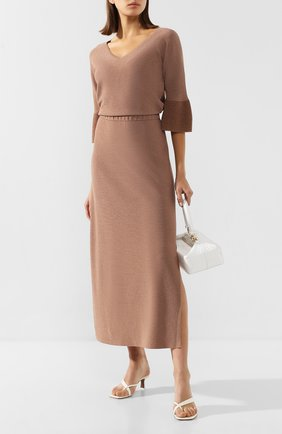 Женское платье из вискозы D.EXTERIOR бежевого цвета, арт. 50306   Фото 2