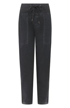 Женские хлопковые брюки JAMES PERSE черного цвета, арт. WACS1862 | Фото 1