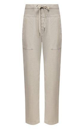 Женские хлопковые брюки JAMES PERSE серого цвета, арт. WACS1862 | Фото 1