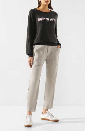 Женские хлопковые брюки JAMES PERSE серого цвета, арт. WACS1862 | Фото 2