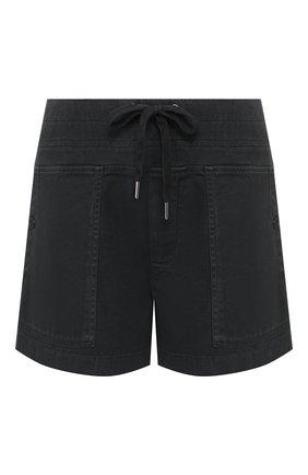 Женские хлопковые шорты JAMES PERSE черного цвета, арт. WACS4271 | Фото 1