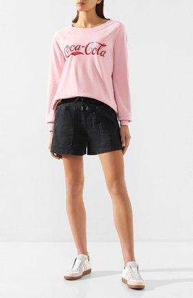 Женские хлопковые шорты JAMES PERSE черного цвета, арт. WACS4271 | Фото 2