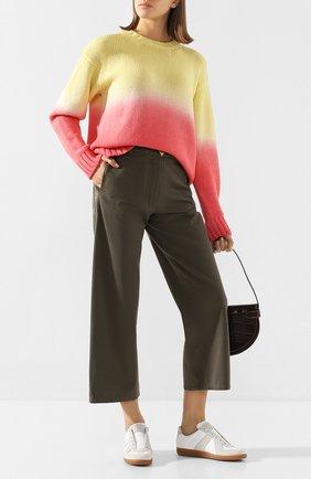 Женская свитер из смеси шерсти и кашемира ALANUI желтого цвета, арт. LWHE009R20105077 | Фото 2
