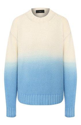 Женская свитер из смеси шерсти и кашемира ALANUI голубого цвета, арт. LWHE009R20105077 | Фото 1