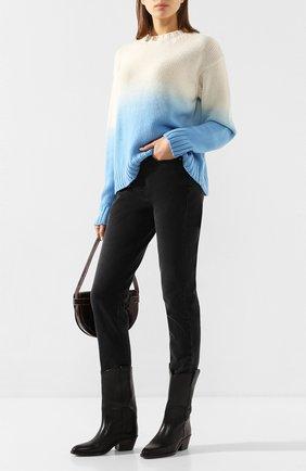 Женская свитер из смеси шерсти и кашемира ALANUI голубого цвета, арт. LWHE009R20105077 | Фото 2