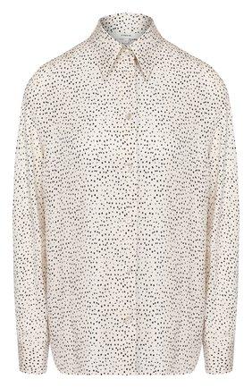 Женская блузка из смеси шелка и вискозы VINCE белого цвета, арт. V650112320 | Фото 1
