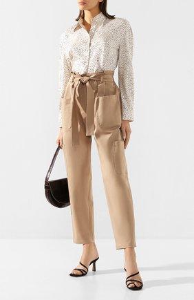 Женская блузка из смеси шелка и вискозы VINCE белого цвета, арт. V650112320 | Фото 2