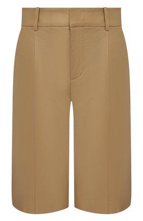 Женские кожаные шорты VINCE бежевого цвета, арт. V655521808 | Фото 1