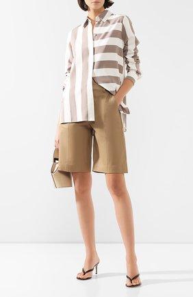 Женские кожаные шорты VINCE бежевого цвета, арт. V655521808 | Фото 2