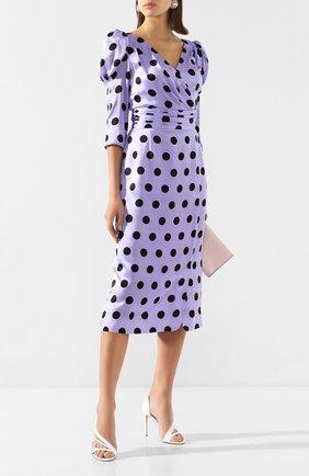 Женское шелковое платье OLIVIA RUBIN сиреневого цвета, арт. 0R0335/DIANA DRESS | Фото 2