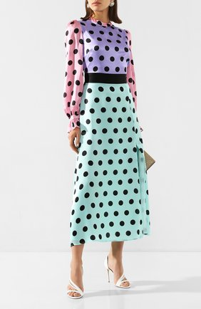 Женское шелковое платье OLIVIA RUBIN разноцветного цвета, арт. 0R0339/MARLEY DRESS | Фото 2