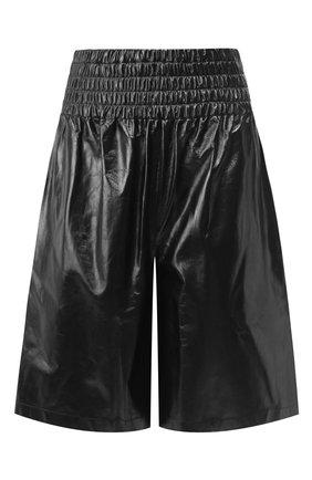 Женские кожаные шорты BOTTEGA VENETA черного цвета, арт. 619210/VKLC0 | Фото 1