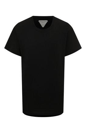 Женская хлопковая футболка BOTTEGA VENETA черного цвета, арт. 613935/VF2A0 | Фото 1