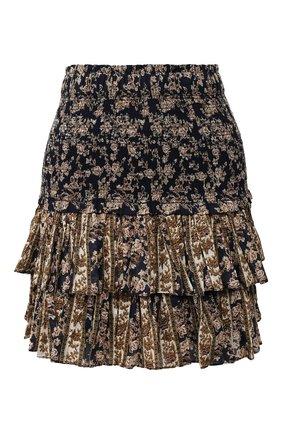 Женская хлопковая юбка ISABEL MARANT ETOILE темно-синего цвета, арт. JU0753-20P079E/NA0MI   Фото 1