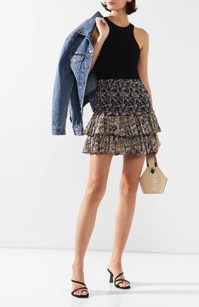 Женская хлопковая юбка ISABEL MARANT ETOILE темно-синего цвета, арт. JU0753-20P079E/NA0MI   Фото 2