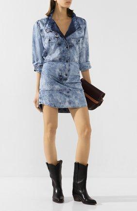 Женское джинсовое платье ISABEL MARANT ETOILE голубого цвета, арт. R01629-20P022E/INAR0A   Фото 2