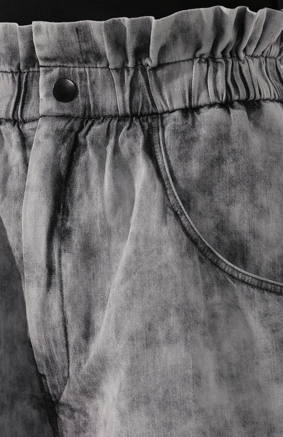 Женские джинсовые шорты ISABEL MARANT ETOILE серого цвета, арт. SH0314-20P022E/ITEA | Фото 5 (Женское Кросс-КТ: Шорты-одежда; Кросс-КТ: Деним; Длина Ж (юбки, платья, шорты): Мини, Миди; Материал внешний: Хлопок; Стили: Кэжуэл; Статус проверки: Проверена категория)