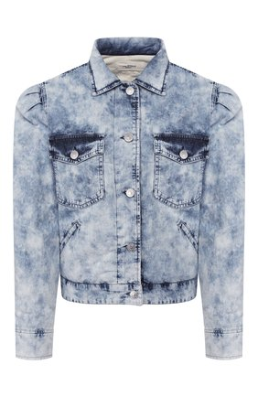 Женская джинсовая куртка ISABEL MARANT ETOILE голубого цвета, арт. VE1271-20P022E/I0LINEA   Фото 1