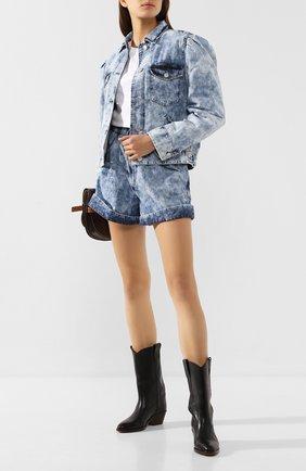 Женская джинсовая куртка ISABEL MARANT ETOILE голубого цвета, арт. VE1271-20P022E/I0LINEA   Фото 2
