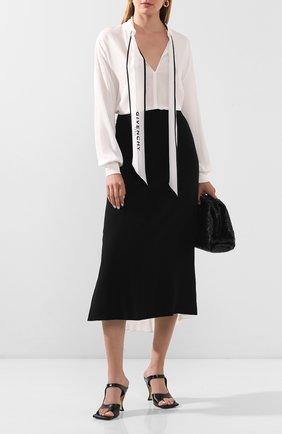 Женская шелковая блузка GIVENCHY белого цвета, арт. BW60FG12EH   Фото 2